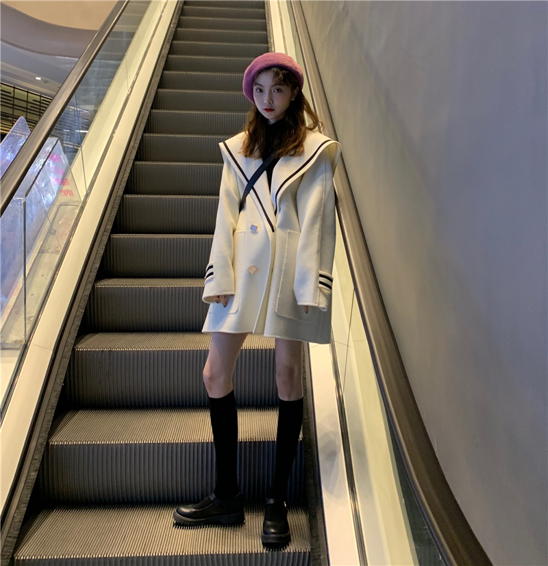 H064737cc1e2748aa9fd663b2ab910ca33 - Winter Korean Butterfly Collar Mid-Long Faux Woolen Coat