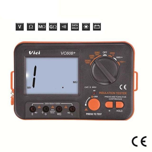 Купить vc60b + тестер сопротивления изоляции 250 в 500 1000 цифровой картинки цена