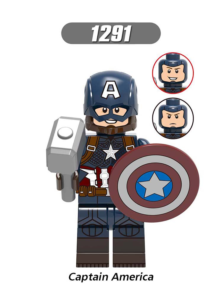 Single Sale Compatible LegoINGlys Super Heroes MiniFigure Far From Home Captain America Black Widow Blocks Dolls Toys Gift X0261