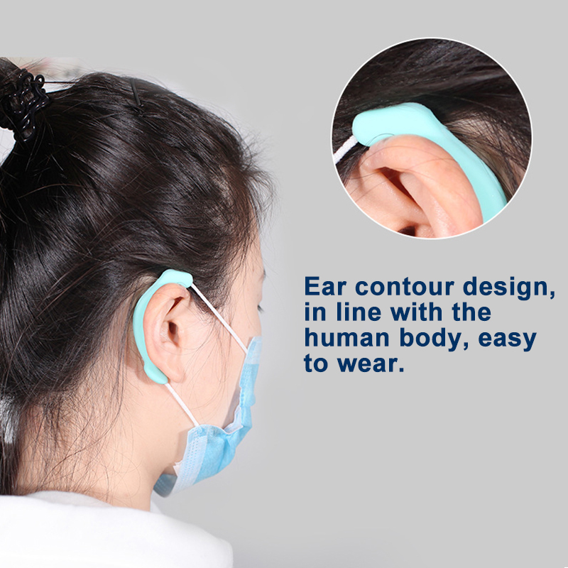 Soft Silicone Earhook Mask Earhook Recyclable Ear Protection Anti-leather And Anti-pain Soft Ear Protector Comfort Save The Ear