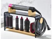 Vertical hole free dyson hairdressing styling device table shelf holder for home use