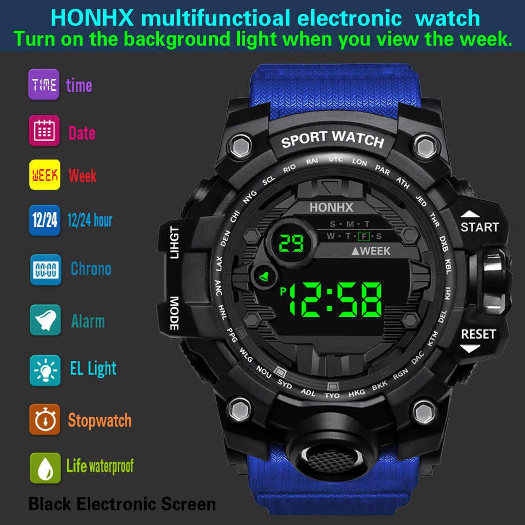 Profissional de moda Esportes Relógio Eletrônico Dos Homens Digital LED relógio de Luxo Data Relógio Dos Homens Do Esporte Ao Ar Livre À Prova D' Água Relógio Militar #03