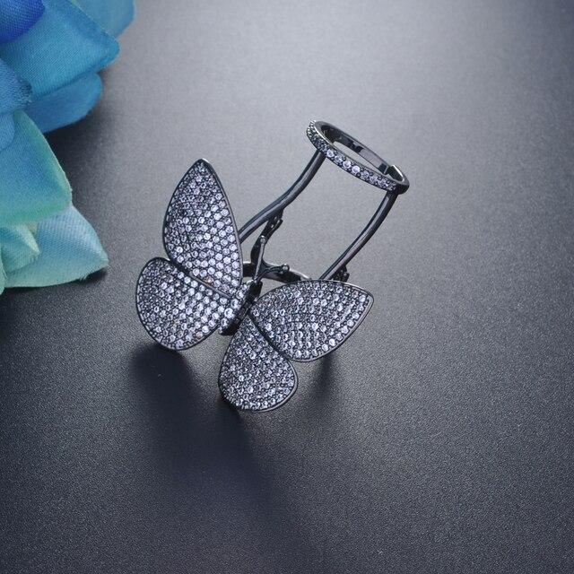 Купить женское кольцо в форме бабочки hiневесты регулируемое уникального