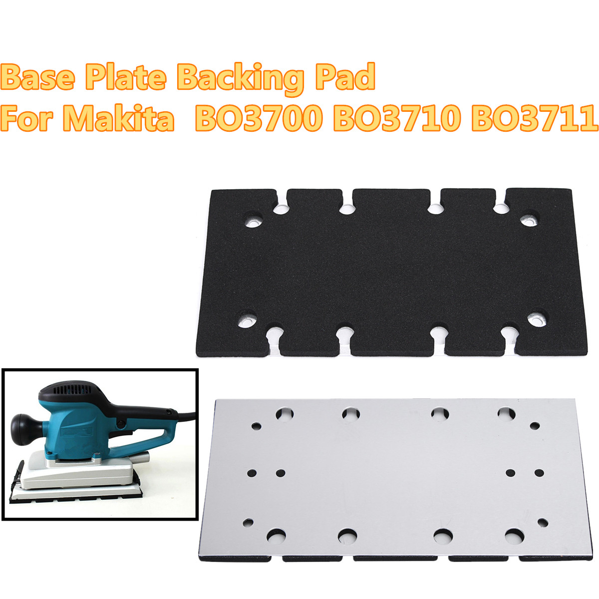 Base Plate Backing Pad For Makita BO3700 BO3710 BO3711 1/3 Sheet Sander Spare
