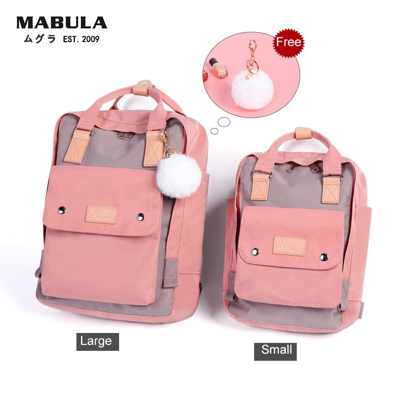 Image 3 - Women Canvas Backpack School Waterproof School Bags for Teenagers Shoulder Bag 14 Laptop Travel Bag Candy Multi color BackpackSchool Bags   -