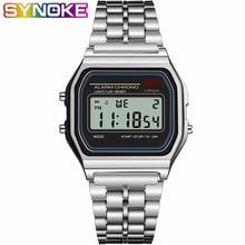 SYNOKE Men's Digital Watches Women Retro G LED Digital Shock Sport Waterproof Men Wristwatches relogio masculino Gold Watch