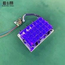 3D Stampante Led Modulo di Retroilluminazione Parallelo a Raggi Ultravioletti Gel di Silice Quarzo con Scheda di Controllo per 5.5 6 Pollici Monitor a Schermo Fai da Te kit