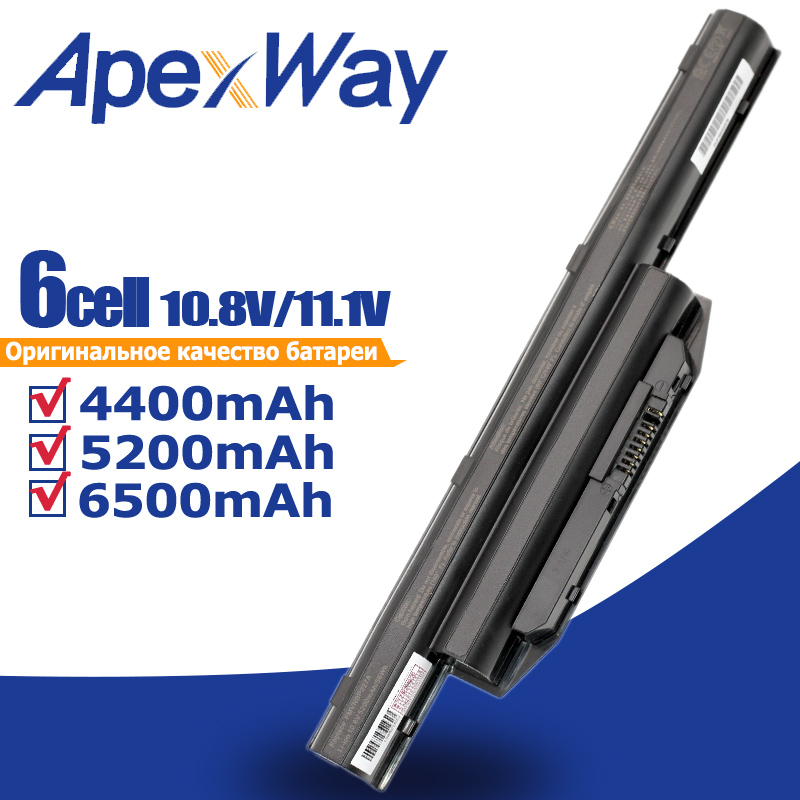 ApexWay 6 Cells Laptop Battery For Fujitsu LifeBook A544 AH564 E733 E734 E743 E744 E753 E754 S904 SH904