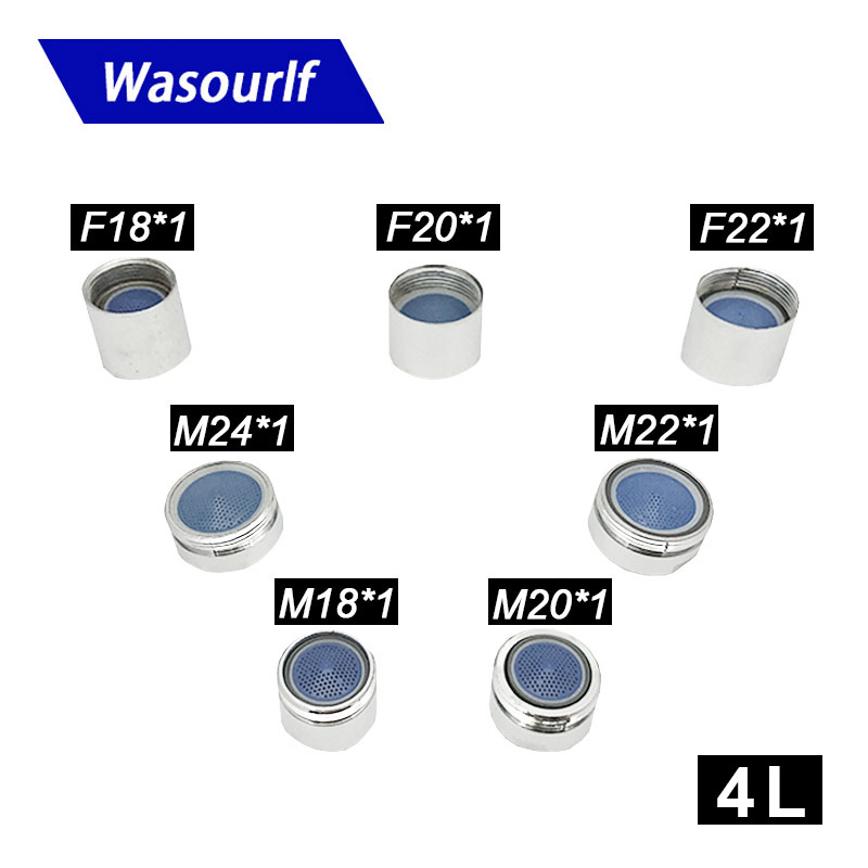Wasourlf M18 M20 M22 M24 Water Saving Aerator Male Thread Or Female Thread For Faucet Tap Bubble 4L Save Water Brass Shell