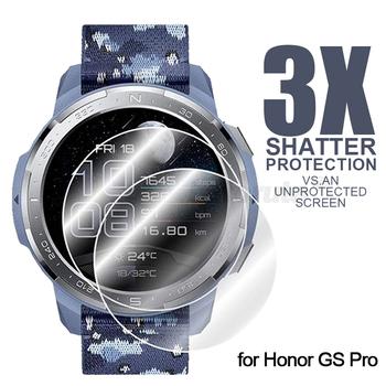 3 sztuk szkło hartowane Screen Protector dla Honor Watch GS Pro 9H inteligentny zegarek szkło ochronne dla Honor watch magia 2 46mm tanie i dobre opinie LAFORUTA CN (pochodzenie) łatwość montażu TEMPERED GLASS HW9H Ultra-thin Scratch Resistant Bubble-free install for Honor Watch GS Pro