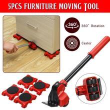 Professional Furniture Roller Move Tool Set Furniture Lifter Heavy Wheel Bar Mover Sliders Transporter Trolley Up for 200KG