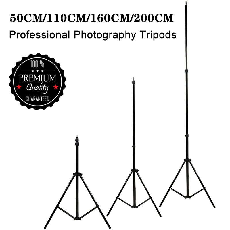 50/110/160/200cm Aluminum Light Photography Tripod Stand Photo Studio Tripods Light Stands for Softbox Umbrella Video Reflector