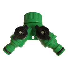 1 Piece 3/4'' Plastic Y Hose Splitter Garden Watering Adapter 2 Way Quick Connector Irrigation System Valve garden hose splitter connectors attachments two way outdoor adapter rubber washers watering