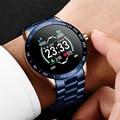 Новые смарт-часы LIGE для мужчин  мониторинг сердечного ритма  кровяного давления  информация  напоминающая спортивные водонепроницаемые Сма...