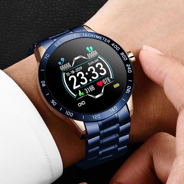 Reloj Inteligente con Banda de Acero para Hombres
