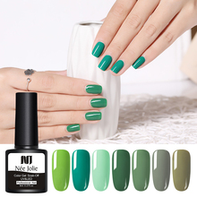 NEE JOLIE 8ml Nail Art Gel Polish Varnish Gray Coffee Series DIY Fast Dry Soak Off UV Design 9 Colors for Choose