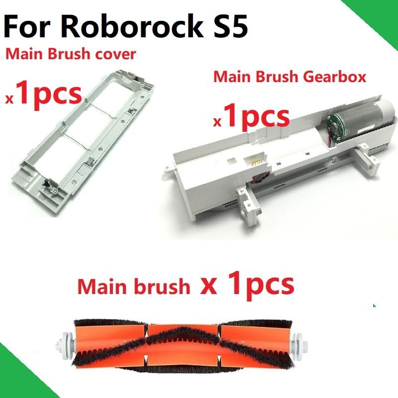 Original Main Brush Roller Brush Cover Housing Case GearBox For Xiaomi Roborock S50 S51 Robot Vacuum Cleaner Spare Parts