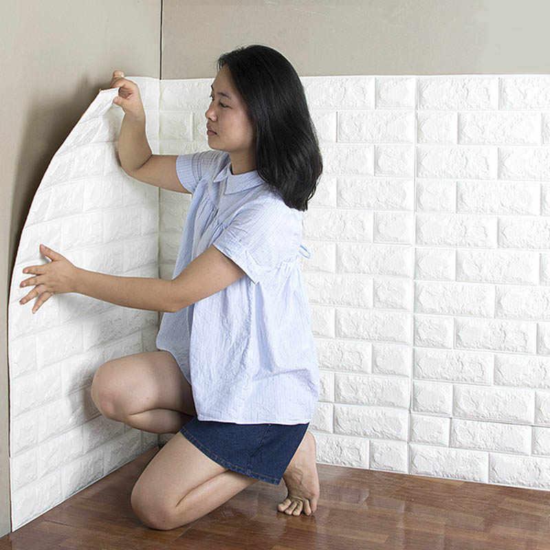 3D Solid Stiker Dinding Kreatif Tamu Restoran Langit-langit Langit-langit Perekat Dekorasi Toko Renovasi Soft Wallpaper