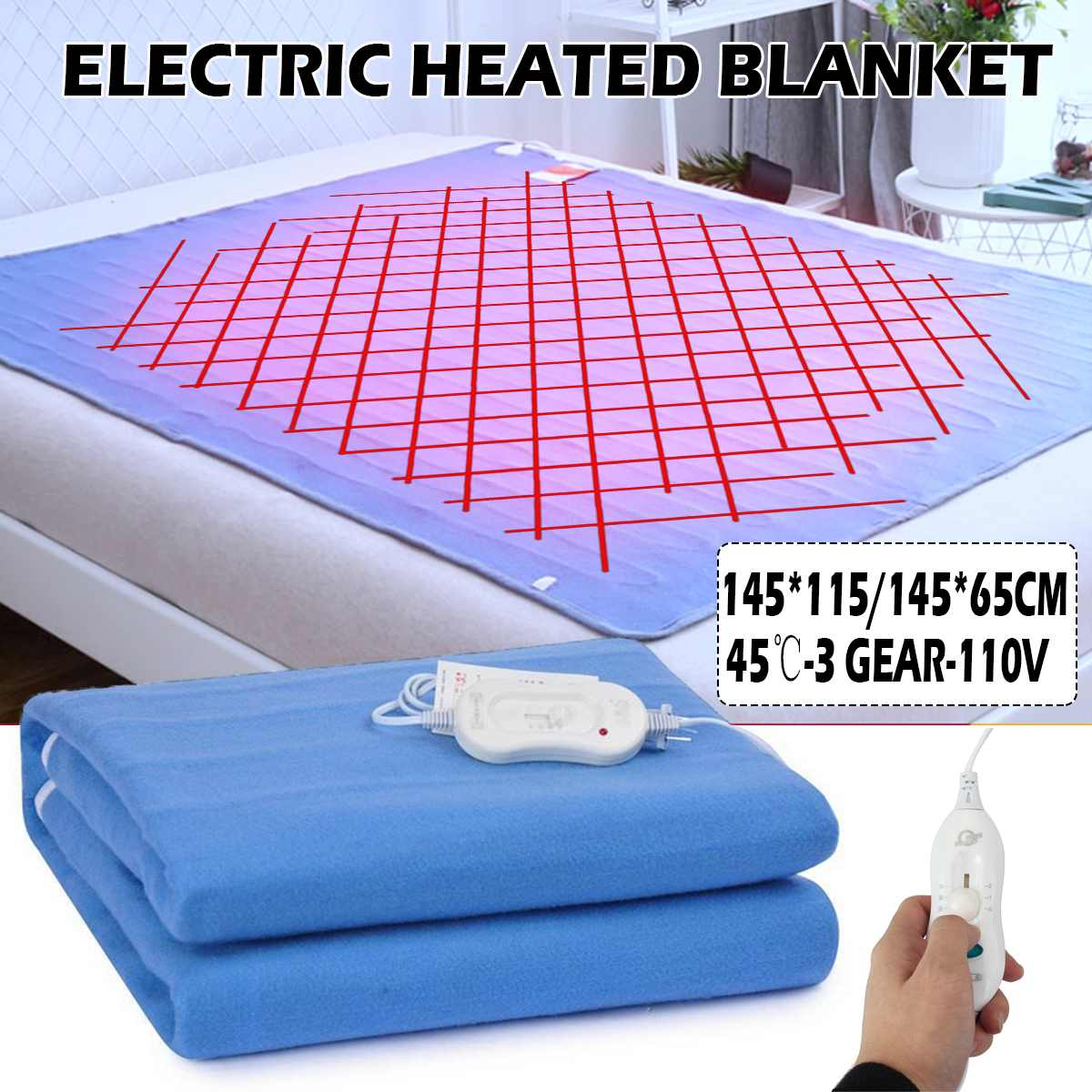Electric Blanket Body Warmer Winter Single Heated Blanket Thermostat Electric Heating Blanket Carpet Household Beds Heaters Pad
