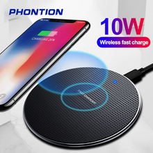 10W Qi Wireless Charger For Samsung S8 S9 S10 Note 10 Fast Charging Pad for iPhone X XS Max XR 8 Plus 11 Pro Xiaomi mi 9 Huawei 10w fast wireless charger for samsung galaxy s10 s9 s9 s8 note 10 usb qi charging pad for iphone x xs 8 xiaomi