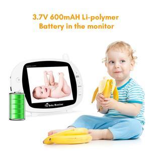 Image 2 - บันทึกเสียงทารกเด็กไร้สาย 3.5 นิ้วหน้าจอ LCD Audio Video Baby Monitor วิทยุพี่เลี้ยงเพลง Intercom บันทึกเสียงทารกกล้อง US Plug
