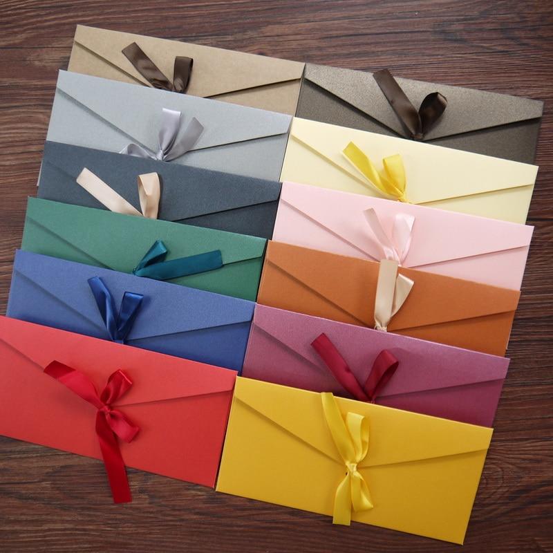 Подарочный конверт 10 шт./лот, набор конвертов с буквами, конверты для приглашений, канцелярские товары, открытки, конверт из крафтовой бумаг...