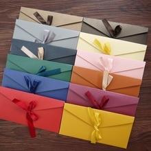 10pcs/lot Gift Envelope Letter Set Envelopes for Invitations Stationery Cards  De Casamento Kraft Red
