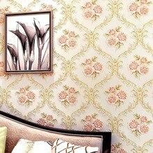 Non-woven wallpaper fresh rural style flower wallpaper for bedroom living room  office kitchen wall papers home decor bedroom de цена 2017