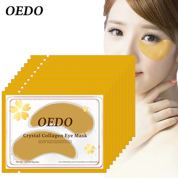 10pcs/lot Eye Care Treatment & Eye Patch Gold Crystal Collagen Skin Care Eye Patches Dark Circle Whitening Care Effect 1