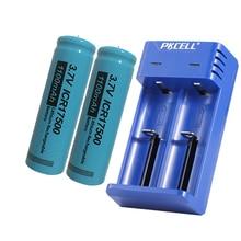 Pkcell ICR17500 3.7vリチウムイオン充電式バッテリー1100mah led懐中電灯トーチ用リチウムイオン電池、スピーカーとusb充電器