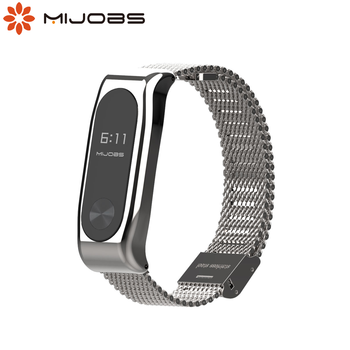 Magnet Bracelet on Mi band 2 Strap for Xiaomi Mi Band 2 Strap Metal Wristabnd Miband 2 Strap Smart Watch Band Accessories