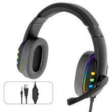 Game Headset PS4 Earphone Wired Xbox-One LED USB for PC with Colorful