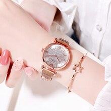 купить 2019 Fashion women watches rose gold Women's watch Mesh Stainless Steel Band Analog Quartz Wrist Watch for women montre femme по цене 259.87 рублей