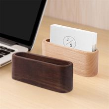 1 Pcs Business Card Holder&Note Holder Display Device Card Stand Holder Wooden Desk Organizer Office Accessories 11x3x4cm