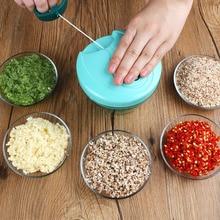 Portable Food Chopper Garlic Meat Grinder Mincer Vegetable Slicer Fruit Shredder Mixer Blender Kitchen Accessories Appliance недорого