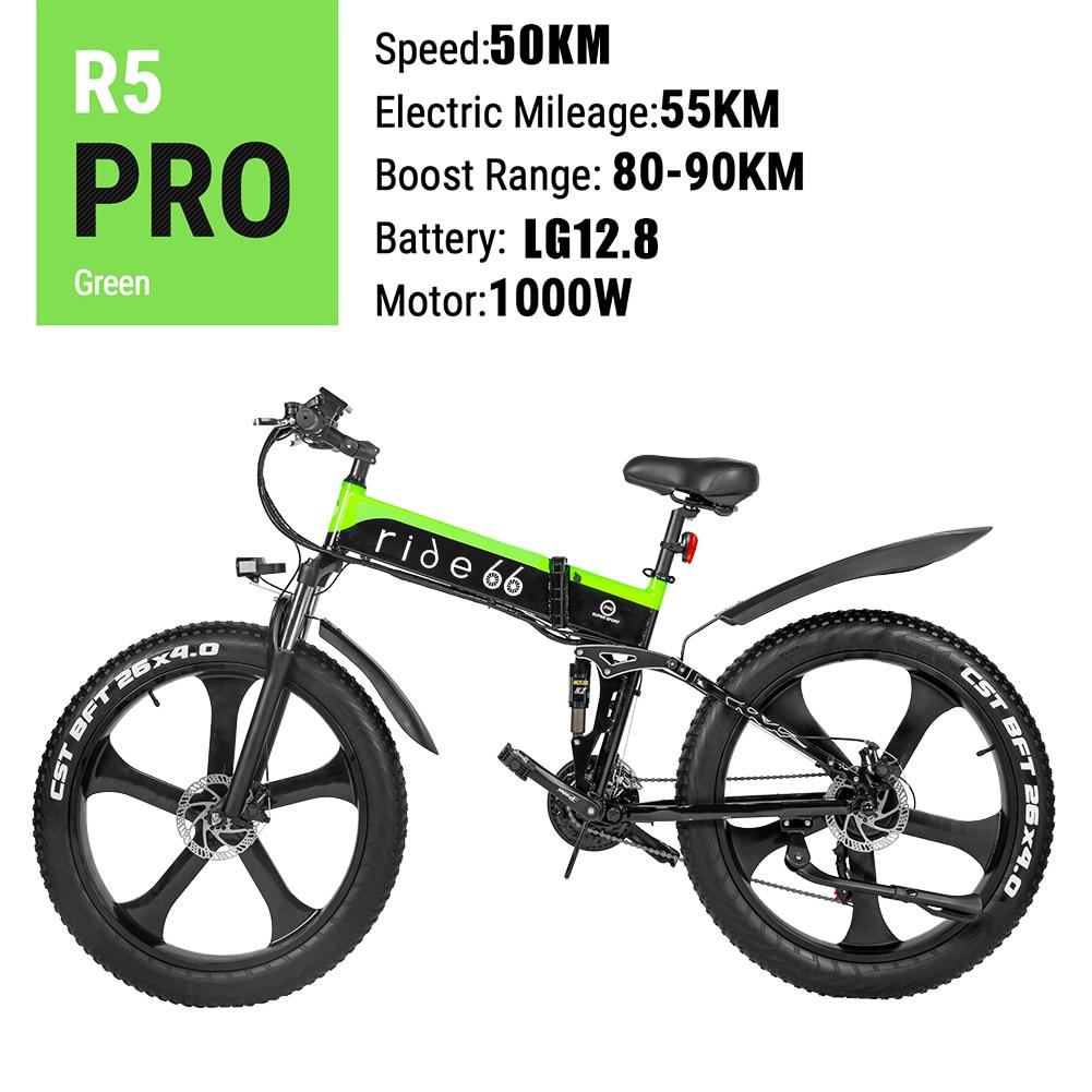 Electric Bike Max 50km/h 12.8ah 48v1000W Fat Tire ebike Foldable Electronic Bike Cheap Electro Bike bici elettrica(China)