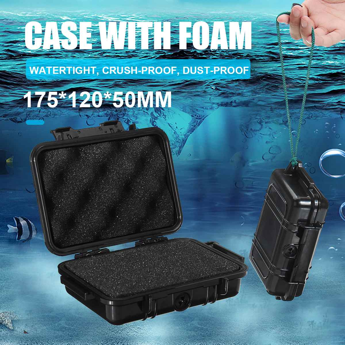 MG180 Protective Safety Instrument Tool Box Waterproof Shockproof Storage Toolbox Sealed Tool Case Impact Resistant Suitcase