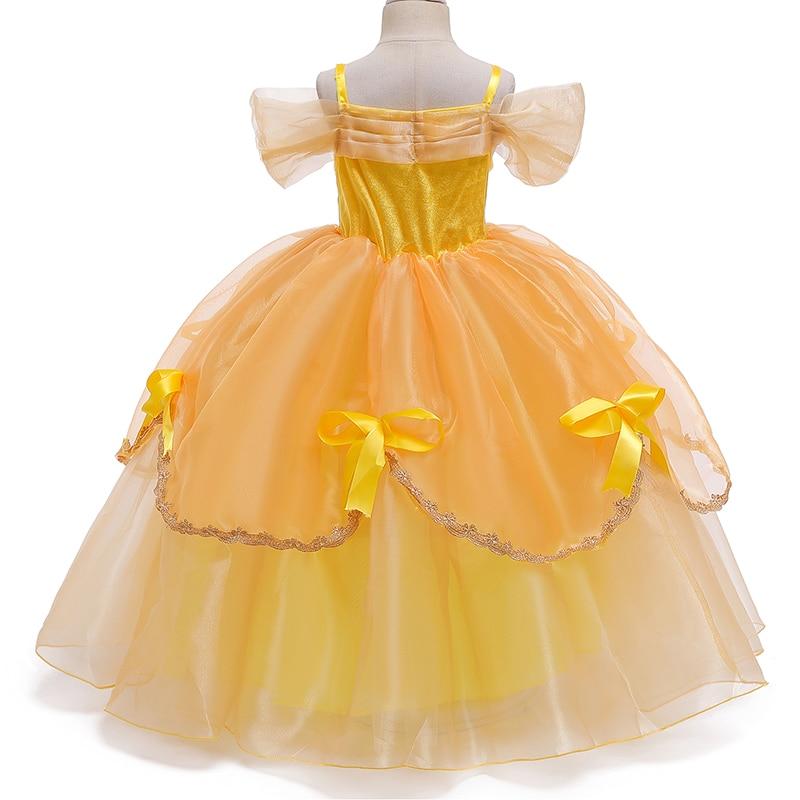 Princess Costume Little Girls Cosplay Dress Children's Disfraz Robe Kids Halloween Clothes 4