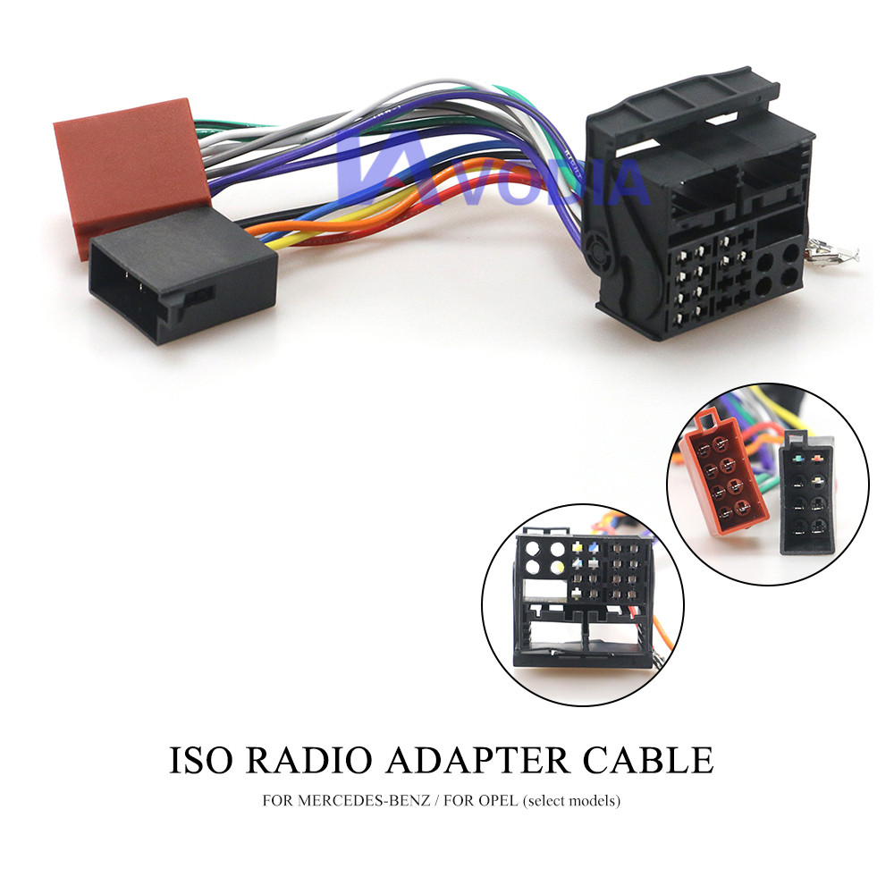 12-124 ISO Radio Adapter for MERCEDES-BENZ for OPEL Wiring Harness Connector Lead Loom Cable Plug Adaptor Stereo(China)
