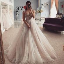 Vestidos de noiva sexy cristais vestidos de noiva 2021 vestido de noiva princesa vestido de noiva praia vestidos de noiva feitos sob encomenda