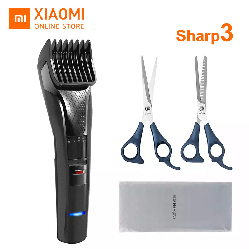 Xiaomi Mijia ENCHEN Sharp 3 Electric Hair Clipper Type-c Fast Charging 1-20mm Limit Comb Electric Clipper Low Noise Trimmer Set
