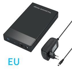3,5 дюймов HDD SDD чехол USB 3,0 на SATA III 6 Гбит/с внешний корпус жесткий диск поддержка 3,5/2,5