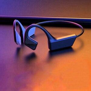 Bluetooth-наушники с костной проводимостью, беспроводные наушники с шумоподавлением, Спортивная гарнитура с ушным крючком, наушники с микрофон...