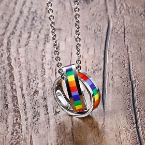 Rainbow Double Circle Women Ne