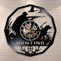 Охотничий олень настенные часы в подарок  ретро виниловая запись настенные часы с животными трофная награда  мужские винтовочные декоратив...