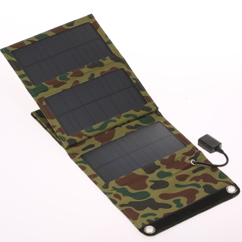 10W/5V Portable Solar Charger With USB Port Foldable 5 Solar Panel Camping Hiking Travel Compact Solar Power Phone Charger 1