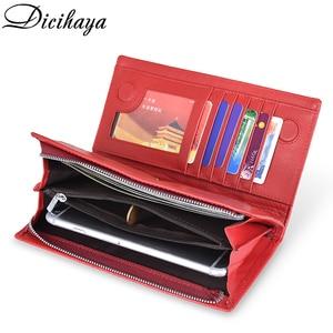 Image 4 - DICIHAYA marki prawdziwej skóry długi portfel damski Alligatos kieszeń na suwak torebka sprzęgła pieniądze etui na telefon, karty uchwyt damskie portfele