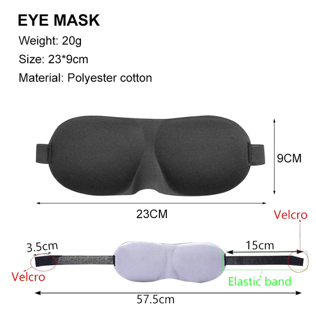 3D Sleep Mask Natural Sleeping Eye Mask Eyeshade Cover Shade Eye Patch Men Women Portable Lunch Break Blindfold Travel Eyepatch 1