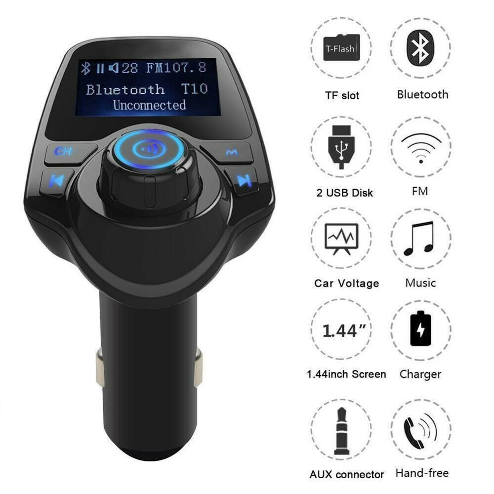 Multifunctional Hands-free Bluetooth Car Kit MP3 Player FM Transmitter USB Car Charger
