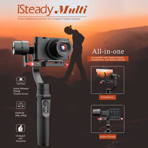 Image 2 - Hohem Isteady Multi 3 Axis Handheld Gimbal Stabilizer Voor Micro Camera Actie Camera Smartphone Pk Zhiyun Crane M2 Feiyu g6 Plus